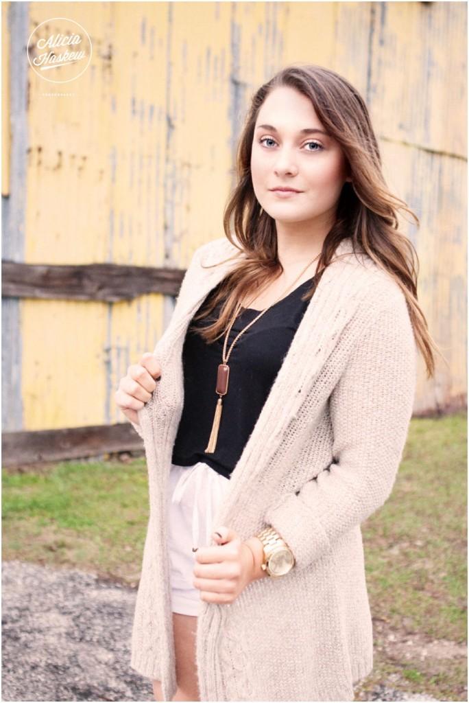 Tallahassee senior portrait outdoor natural light, senior posing, florida photographer, railroad square