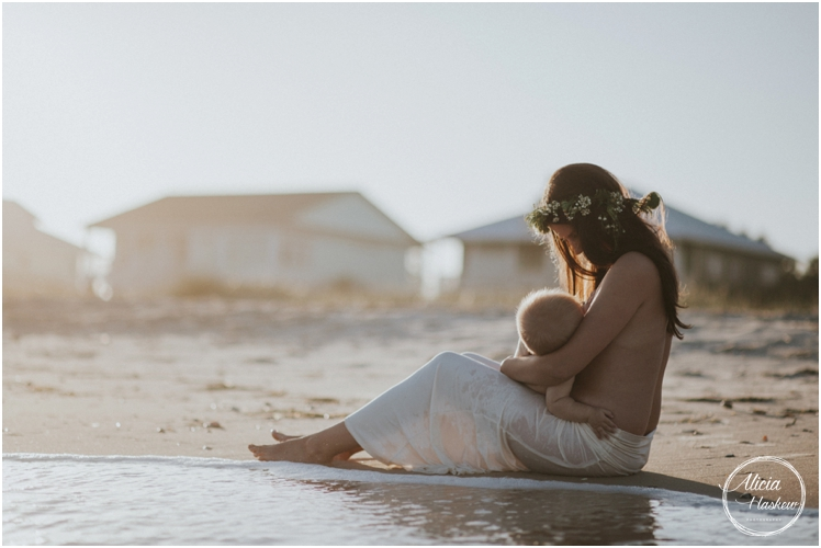 Breastfeeding Lifestyle Session |Steph and Baby C | St. George Island Photographer