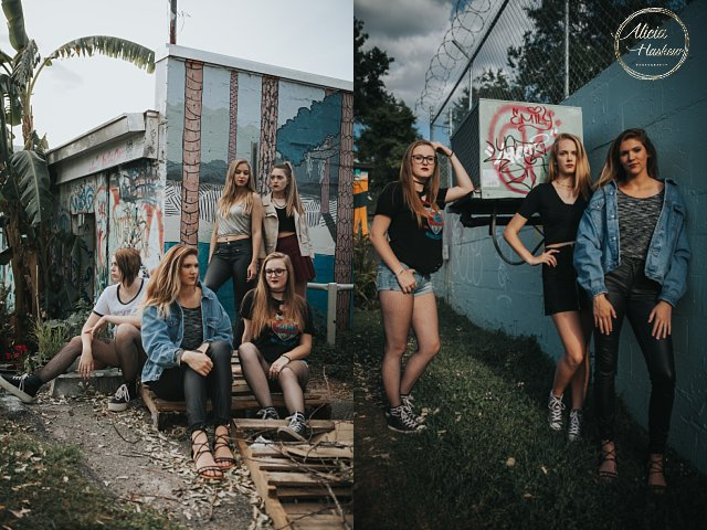 tallahassee senior portrait model group shoot
