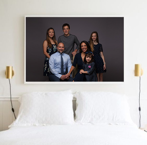 family photography art on walls
